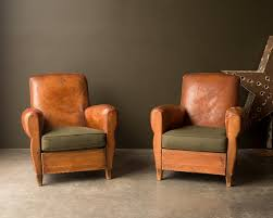 vintage sofas and chairs vintage furniture 1930 s original leather french club chair set