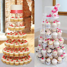 7 tier clear acrylic round cupcake stand wedding birthday cake