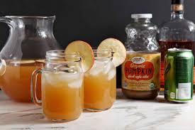 bourbon thanksgiving cocktail sparkling bourbon pumpkin apple punch the speckled palate