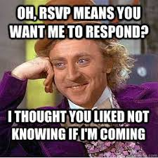 Planning A Wedding Meme - deluxe wedding planning memes meme your no reply guests weddings