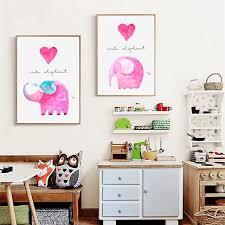 peinture bebe chambre bande dessinée mignon éléphant bébé chambre impression et