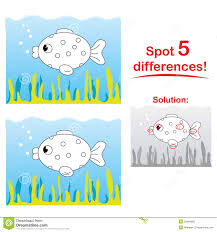 Fish Cartoon Spot 5 Differences Stock Photography Image 22484992