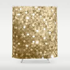 Gold Shimmer Curtains Best Gold Glitter Shower Curtain Products On Wanelo