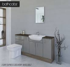 Bathroom Fitted Furniture White Driftwood Bathroom Fitted Furniture 1500mm With Wall