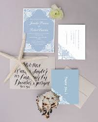 light blue wedding invitations dusty blue lace floral winter wedding invitations ewi383 lace