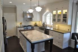 black island kitchen kitchens with white cabinets home decorations spots