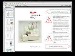 pfaff sewing machine manual pfaff sewing manuals
