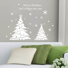 New Year Wall Decoration by Christmas Tree Vinyl Christmas Lights Decoration