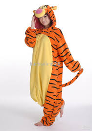 Halloween Onesie Costumes Wholesale Disney Tigger Tiger Onesie Pajamas Pyjamas Cosplay