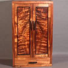 Wall Mount Spice Cabinet With Doors Custom Wall Mounted Koa Jewelry Cabinet