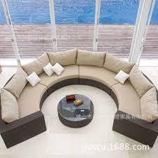 circular outdoor rattan sofa rattan sofa suite restaurants exports