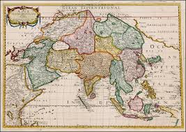 map asie asie 1650 with depiction of the west coast of