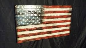 American Flag Decor Scorched U S Flag