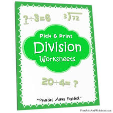 division worksheets printables u0026 worksheets