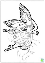barbie mariposa fairy princess coloring dinokids org