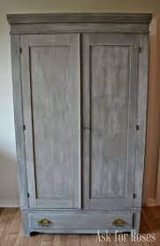 ask for roses french linen paris grey washed antique armoire
