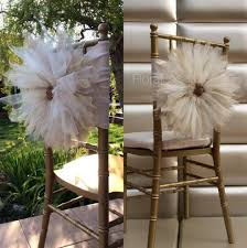 cheap chair sashes wholesale 2017 wholesale white ivory 3d flower chair sash tulle 2016