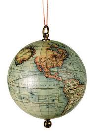 world globe ornament free shipping