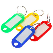 color key rings images 30pcs lot plastic keychain blanks key ring id label tags for jpg