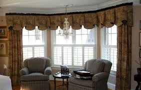 curtains for big bay windows double wooden curtain rods ceiling