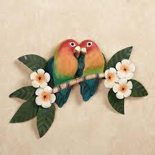 lovebirds parrot indoor outdoor wall art
