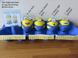 Easter Eggs Decorated Like Minions by The Highs And Lows Of Egg Decorating Minion Style U2013 Wonderinalexland