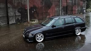 bmw wagon stance bbs rf on e36 bmw 323ia touring wagon jdmeuro com
