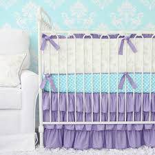 Lavender And Grey Crib Bedding Lovley Damask Vintage Gray Lavender Crib Set Caden