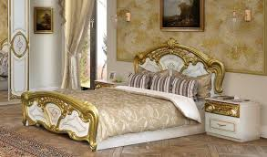 schlafzimmer barock schlafzimmer rozza in weiß gold klassisch 160x200 cm barock