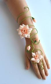 Girls Favourite Flowers - any colour flower and vine fairy arm cuff slave by inmyfairygarden