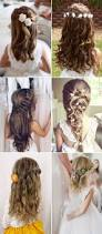 2017 new wedding hairstyles for brides and flower girls long