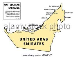 map of the uae sharjah united arab emirates map in grey stock vector