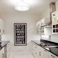 Galley Style Kitchen Designs - furniture galley style kitchen design with white glossy hung cabinets