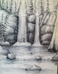 how to draw a waterfall step by step arcmel com