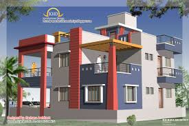 duplex house plan elevation kerala home design building plans