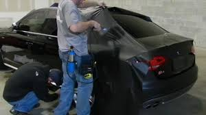 matte flat black vinyl car wrap sticker decal sheet film bubble free 3m scotchprint wrap film series 1080 vehicle installation hd youtube