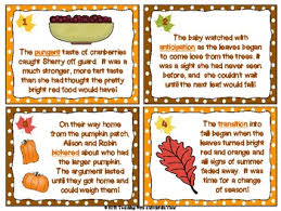 fall thanksgiving themed context clues task cards grade 3 6 tpt