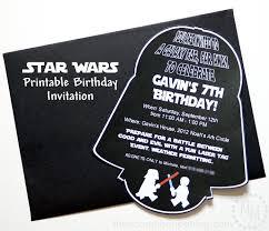 star wars darth vader printable birthday invitation diy ideas