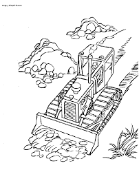 bulldozer coloring pages chuckbutt