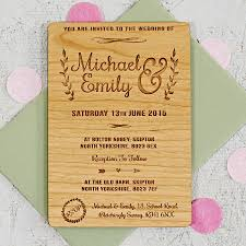 wooden wedding invitations floral wooden wedding invitation by