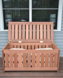 Patio Cushion Storage Bin by Outdoor Cushion Storage Box Plans Modern Patio