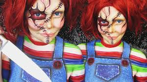 halloween body paint chucky halloween makeup u0026 body painting tutorial ash clements