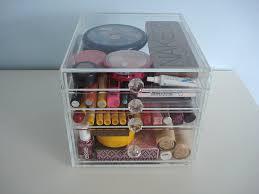 amazon com acrylic makeup cosmetics organizer 4 drawer beauty