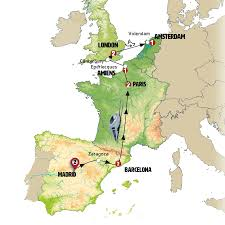Zaragoza Spain Map by A Virtuous Line Europamundo Vacations