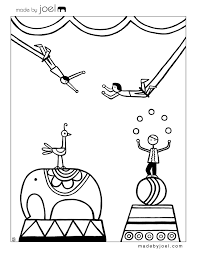 circus coloring sheets joel free printable craft
