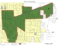 Ohio City Map Marion City Council Ward Maps The City Of Marion Ohio