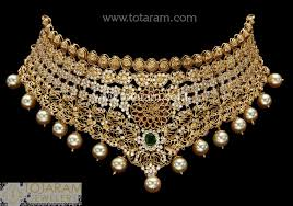 choker necklace with pearls images 22k gold choker necklace with cz ruby emeralds south sea jpg