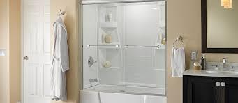 bathroom shower stalls ideas bathtub shower combo bath enclosure ideas delta doors with