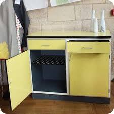 buffet cuisine bas buffet bas sur roulettes formica jaune et bleu ées 50