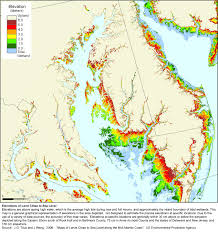 Maryland Counties Map More Sea Level Rise Maps For Maryland